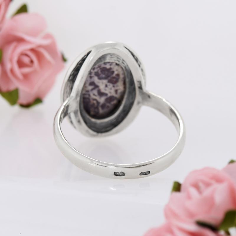 Кольцо яшма  (серебро 925 пр.) размер 19,5