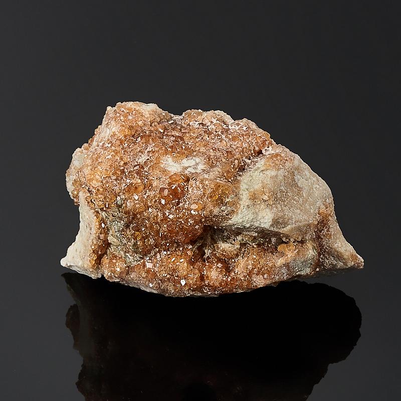 Щетка гранат гроссуляр, везувиан, клинохлор  XS