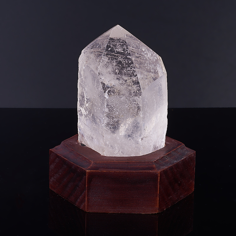 Кристалл горный хрусталь на подставке  S