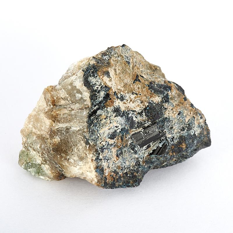 Образец турмалин черный (шерл), асбест  XS
