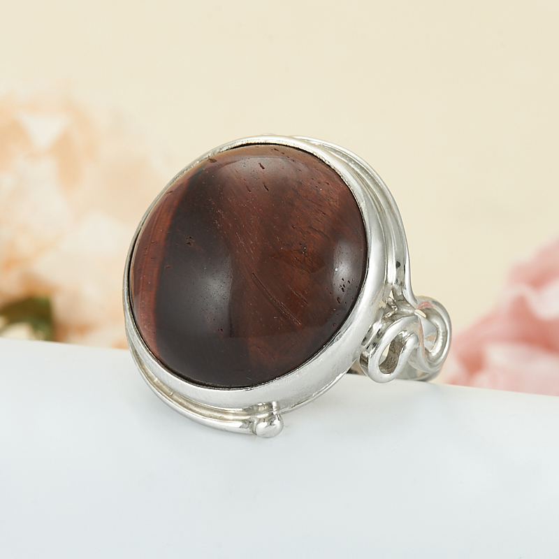 Кольцо бычий глаз  (серебро 925 пр.) размер 18