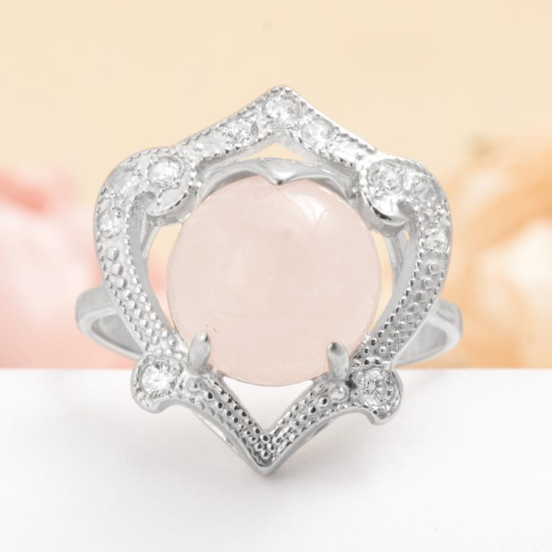 Кольцо берилл розовый (морганит)  (серебро 925 пр.) размер 20