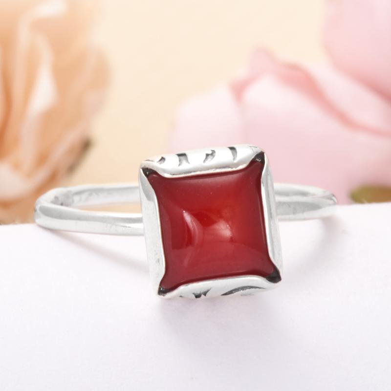 Кольцо коралл красный (серебро 925 пр.) размер 15,5 кольца колечки кольцо аскон им коралл