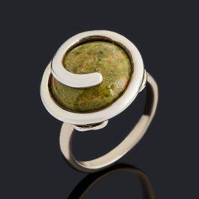 Кольцо унакит ЮАР (серебро 925 пр.) размер 18,5