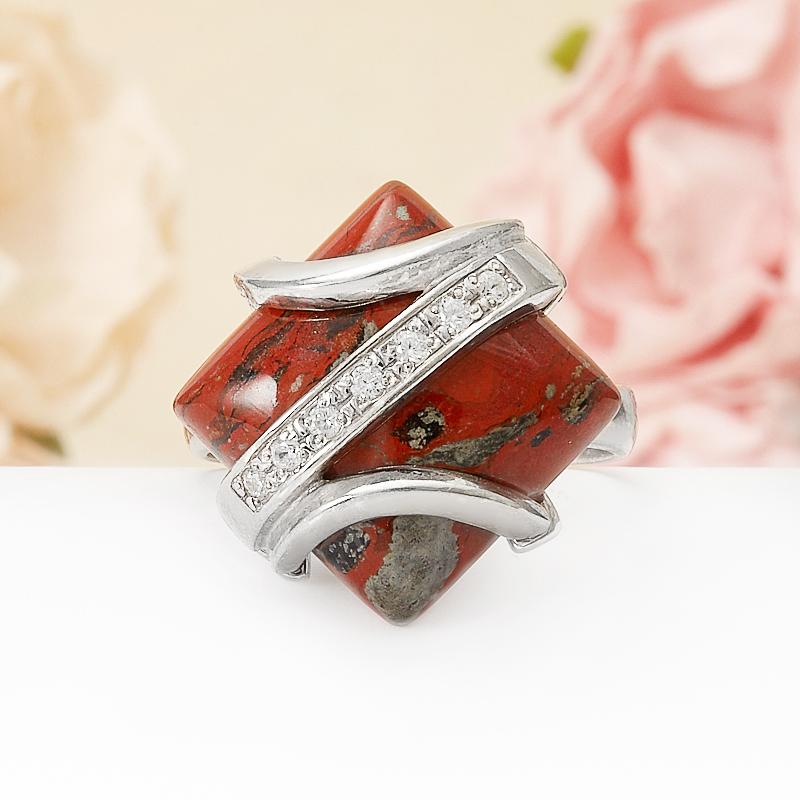 Кольцо яшма брекчиевая  (серебро 925 пр.) размер 18,5