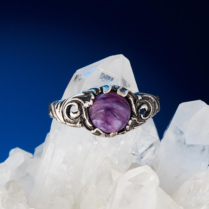 Кольцо чароит  (серебро 925 пр.) размер 17 кольцо хризопраз серебро 925 пр размер 17