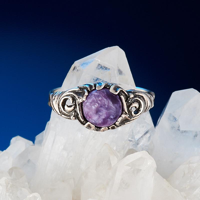 Кольцо чароит  (серебро 925 пр.) размер 17,5 кольцо авантюрин зеленый серебро 925 пр размер 17 5