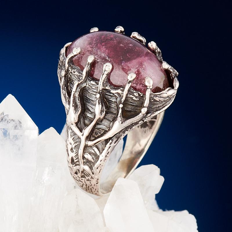 Кольцо турмалин розовый (рубеллит)  (серебро 925 пр.) размер 18,5 кабошон турмалин 13 18 мм