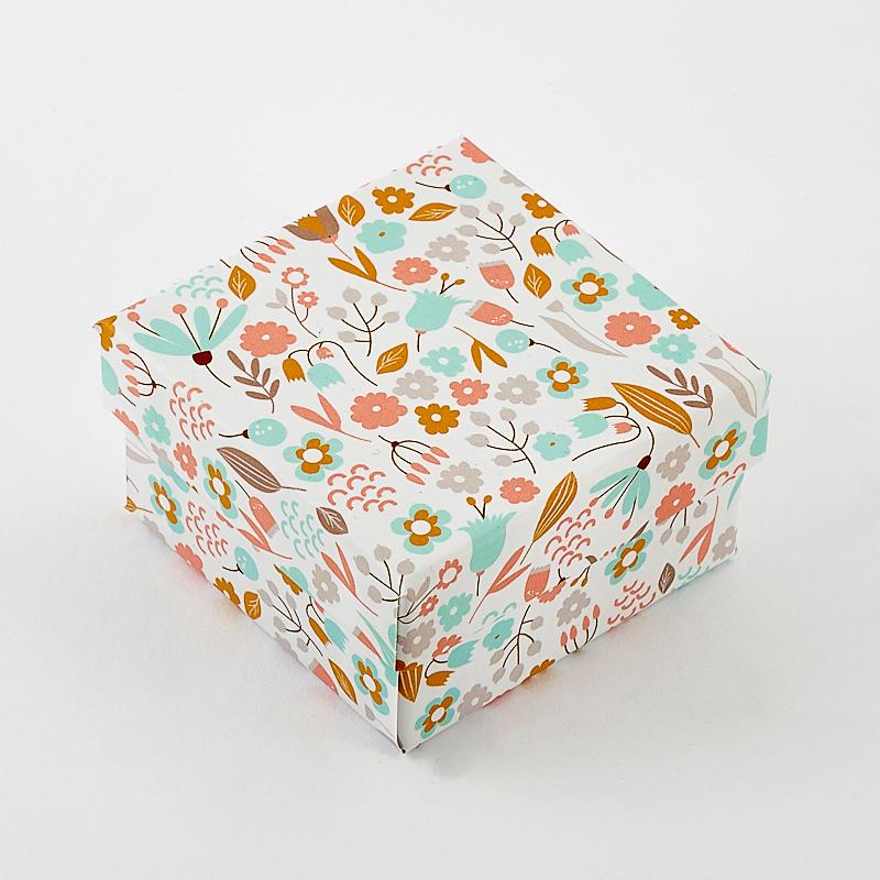 Подарочная упаковка под  комплект (кольцо, серьги, кулон) 55х55х30 мм