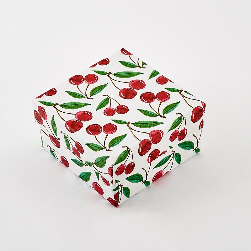 Подарочная упаковка под комплект (кольцо, серьги, кулон) 55х55х30 мм комплект кулон и серьги дом янтаря