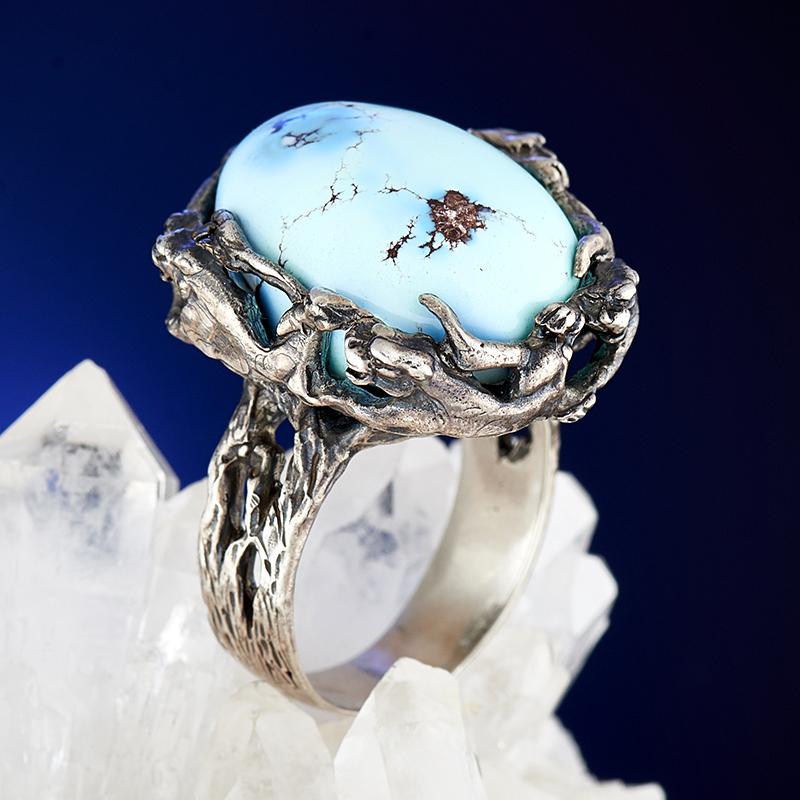 Кольцо бирюза  (серебро 925 пр.) размер 18,5 кольцо авантюрин зеленый серебро 925 пр размер 18