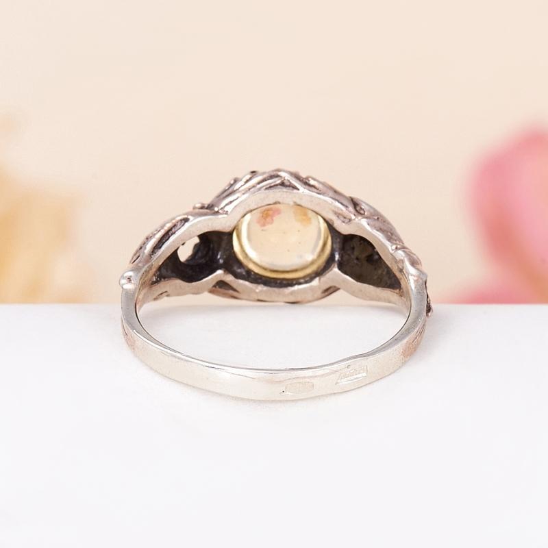 Кольцо цитрин  (серебро 925 пр.) размер 18,5
