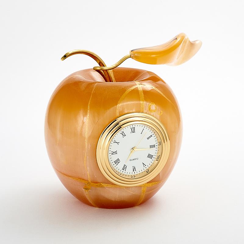 лучшая цена Часы яблоко селенит 8,5 см