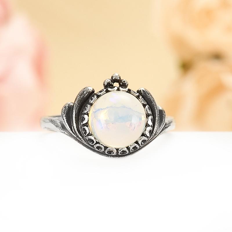 Кольцо опал  (серебро 925 пр.) размер 17