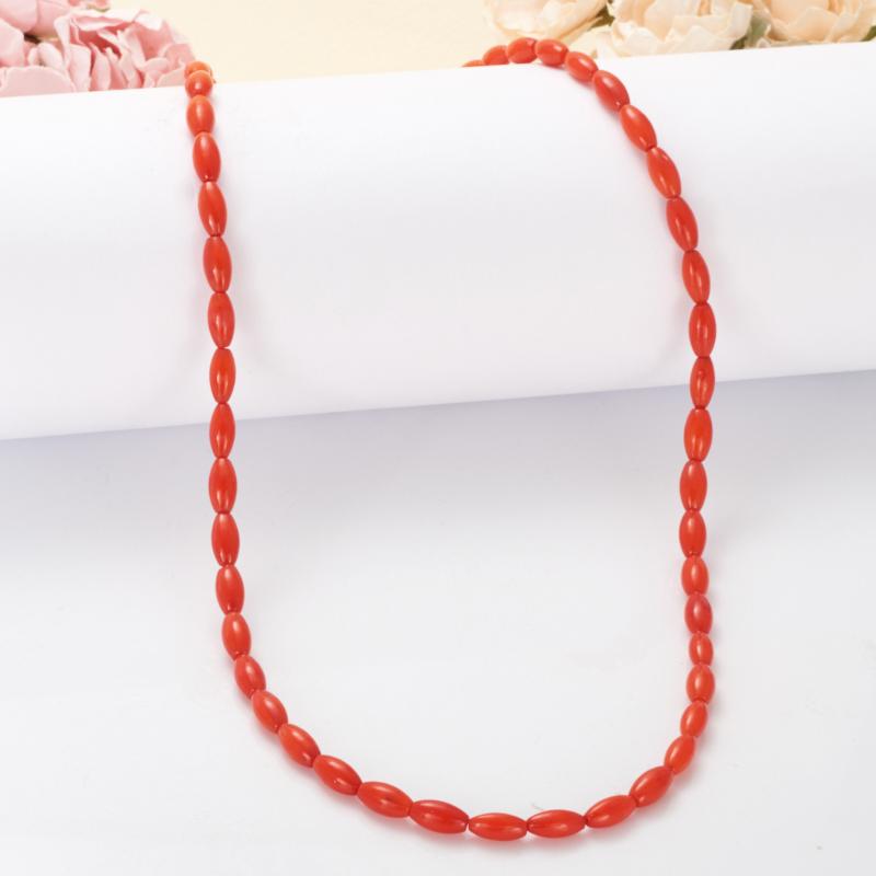 Бусы длинные коралл красный  66-75 см
