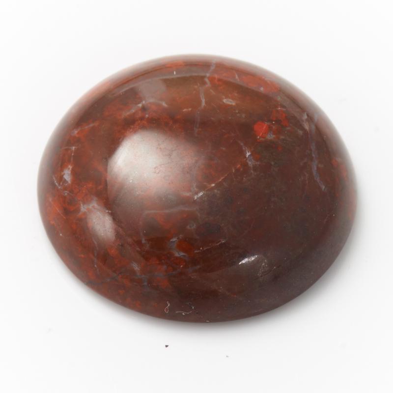 Кабошон яшма красная 18 мм