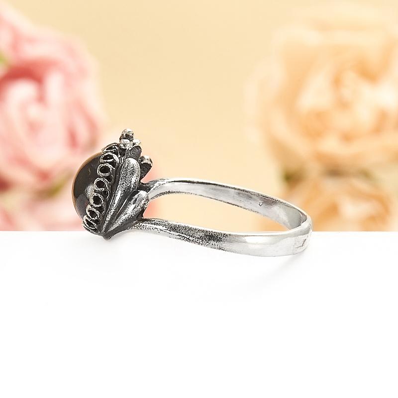 Кольцо гранат альмандин  (серебро 925 пр.) размер 18