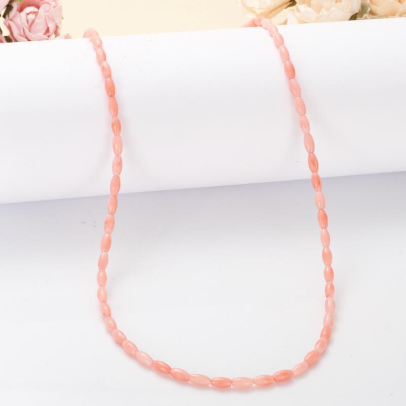 Бусы коралл розовый  50-59 см