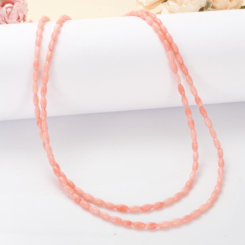Бусы коралл розовый  44-53 см