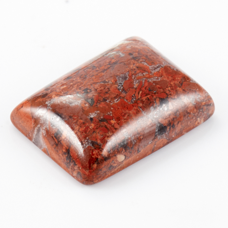 Кабошон яшма брекчиевая  10*14 мм