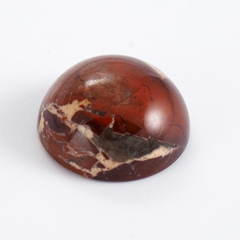 Кабошон яшма брекчиевая  8 мм