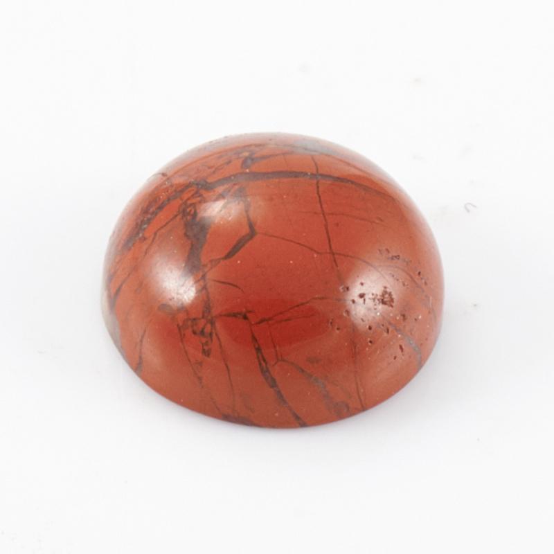 Кабошон яшма красная 8 мм 1 шт