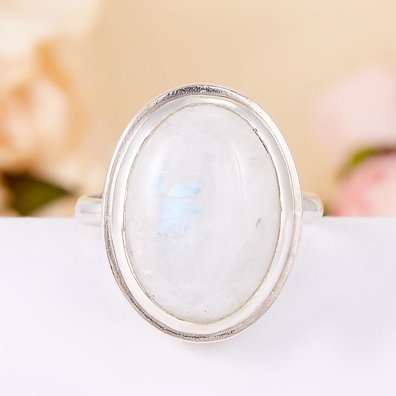 Кольцо лунный камень  (серебро 925 пр.) размер 18 кольцо авантюрин зеленый серебро 925 пр размер 18
