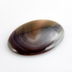 Кабошон агат серый Ботсвана 30*40 мм