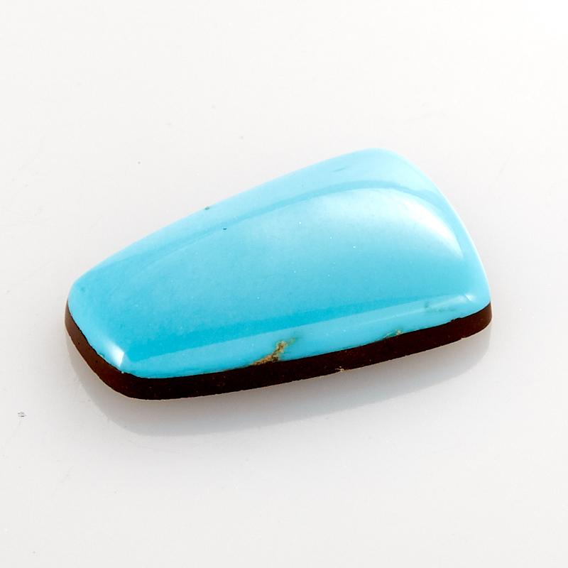 Кабошон бирюза (дублет)  10*16 мм