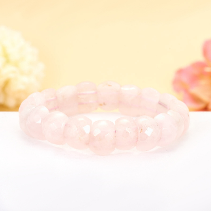Браслет розовый кварц  огранка 17 cм браслет лабрадор огранка 18 cм