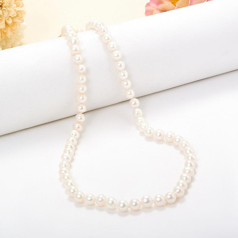 Бусы длинные жемчуг белый 6-7 мм 90 см mantra бра mantra habana 5316 5237