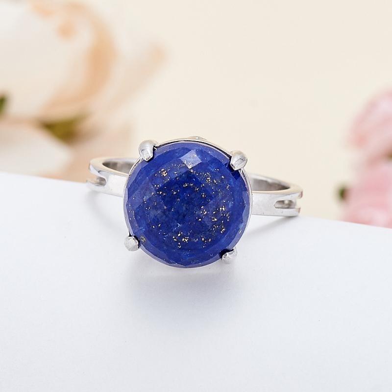 Кольцо лазурит  огранка (серебро 925 пр.) размер 18,5