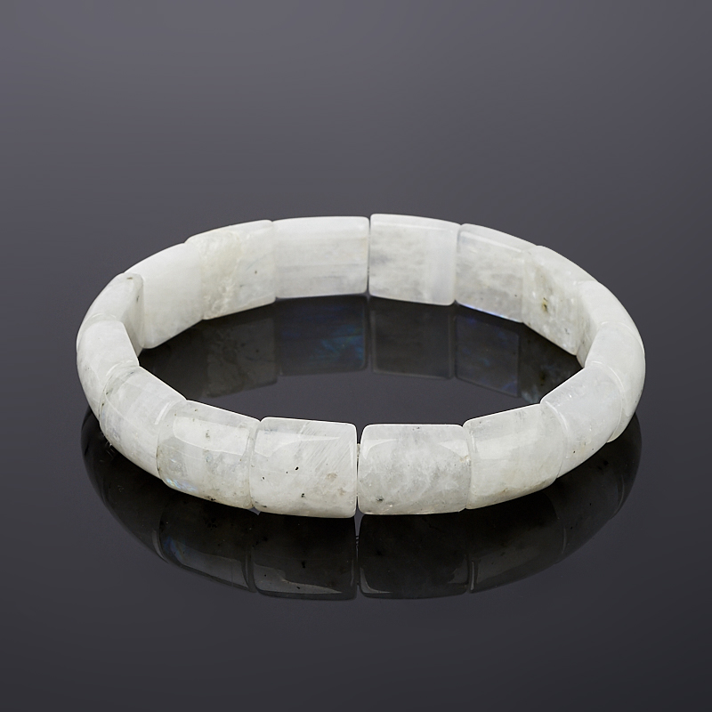 Браслет лунный камень Индия 16 cм