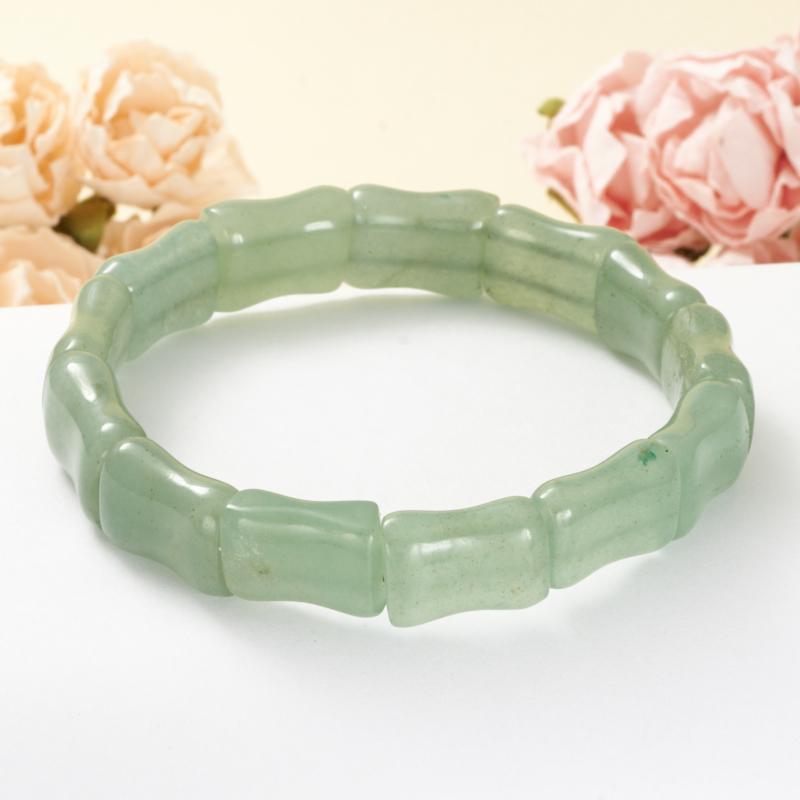 Браслет авантюрин зеленый  19 cм бусы авантюрин зеленый 49 см