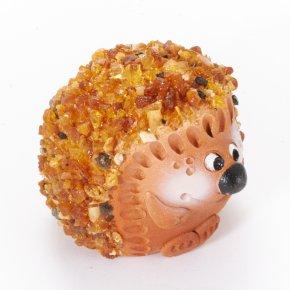 Ежик янтарь Россия 4,5 см