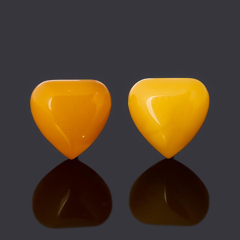 Серьги (пуссеты) янтарь