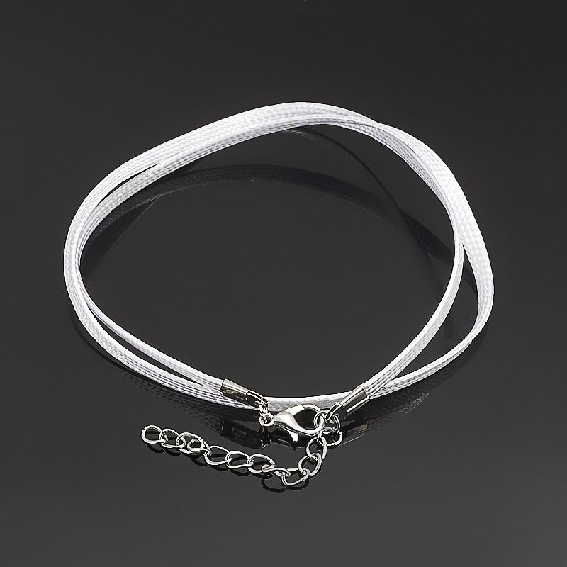 Шнурок белый 45-49 см (текстиль)