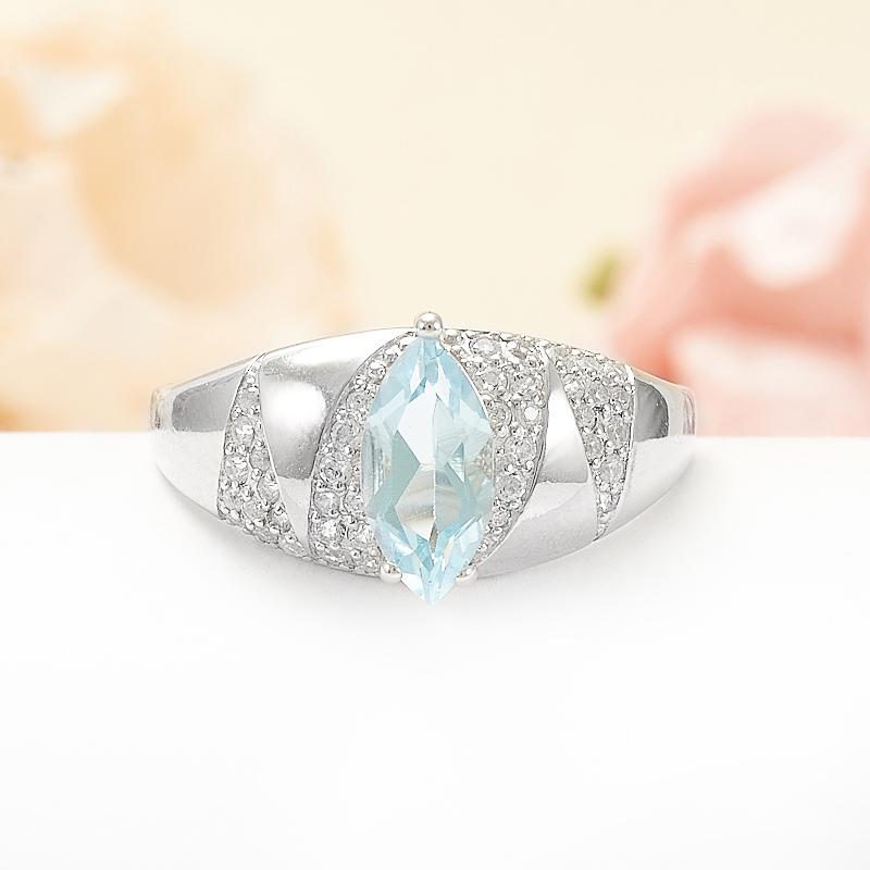 Кольцо топаз голубой  огранка (серебро 925 пр.) размер 18,5 кольцо авантюрин зеленый серебро 925 пр размер 18