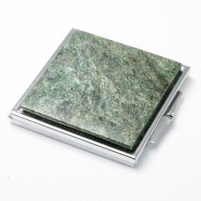 Зеркало змеевик Россия 6х6 см