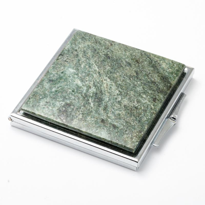 Зеркало змеевик  6х6 см