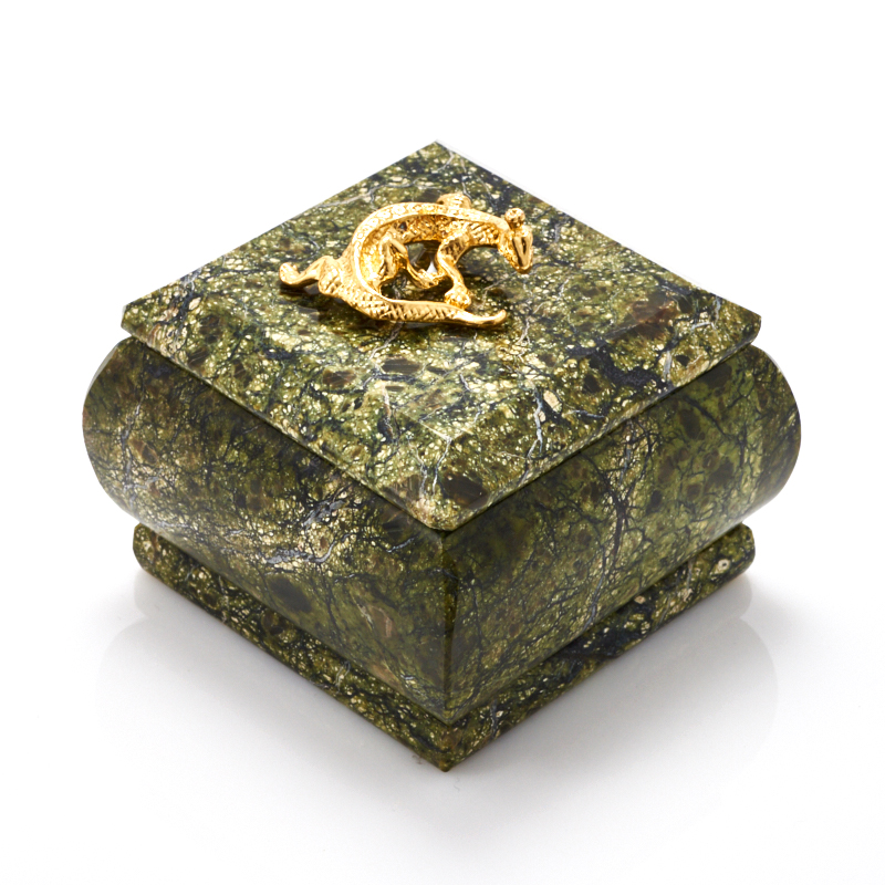 Шкатулка змеевик  6,5х6,5х4,5 см неактивный шкатулка сувенир вкусный завтрак 9 6 6 5 см