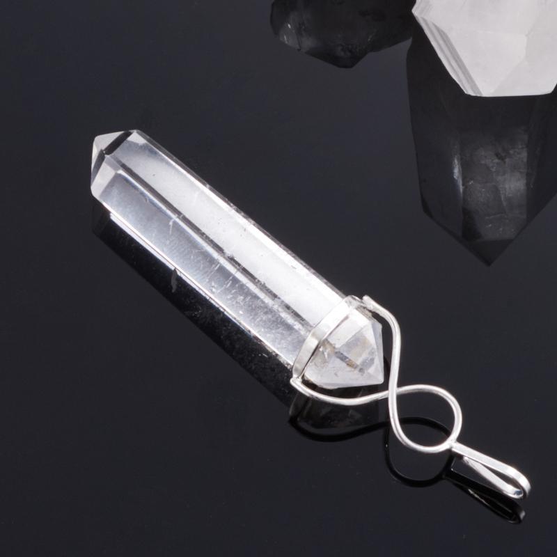 Кулон горный хрусталь Бразилия кристалл 5-6 см