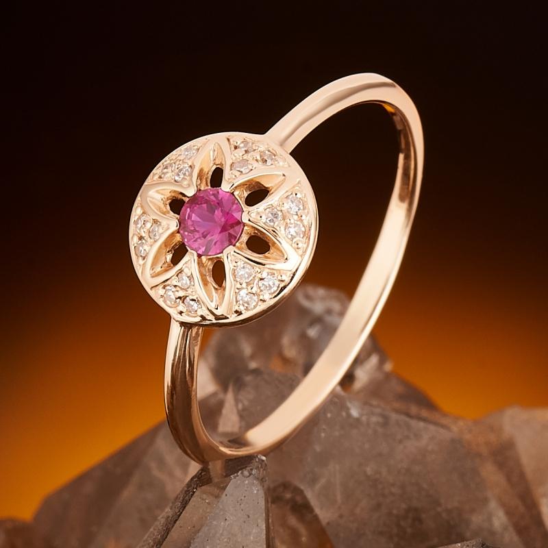 Кольцо рубин  огранка (золото 585 пр.) размер 18