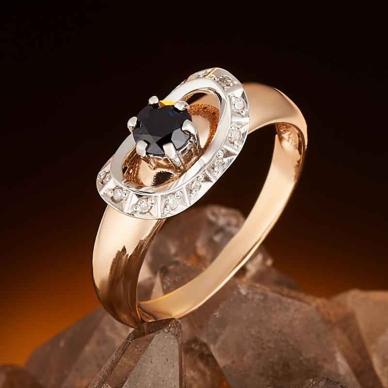Кольцо сапфир огранка (золото 585 пр.) размер 16,5