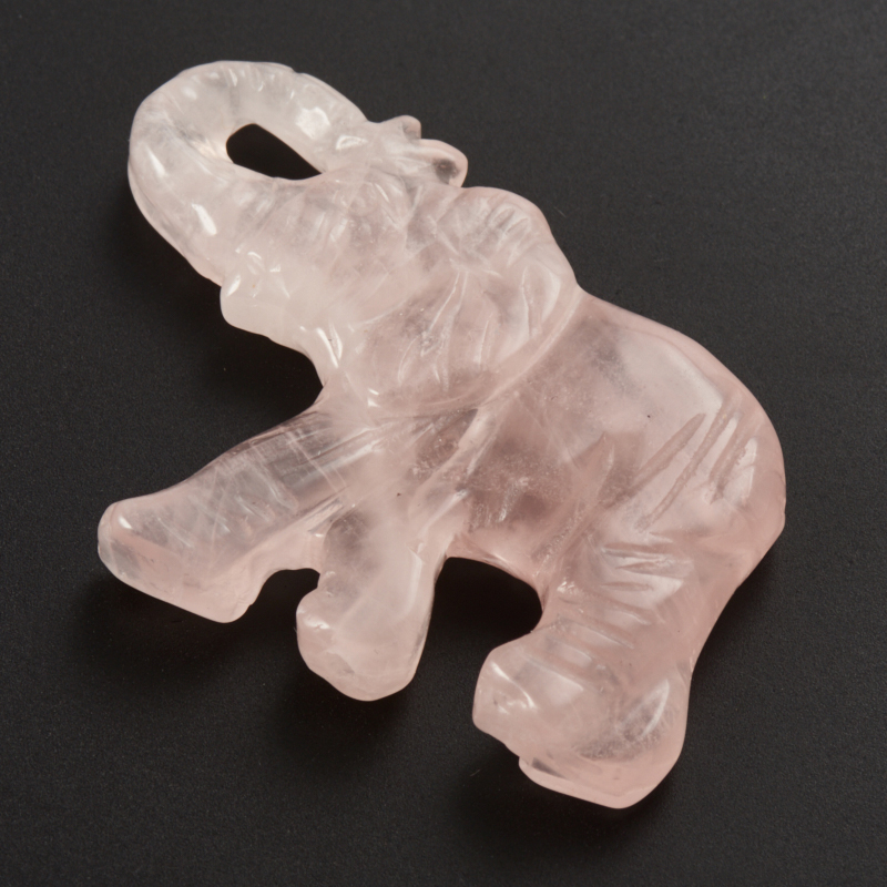 Пуговица слон розовый кварц 4 см
