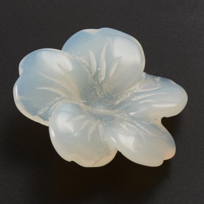 Пуговица цветок агат серый  2,5 см