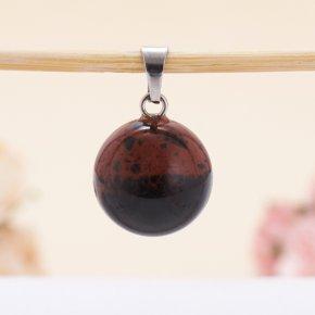 Кулон обсидиан коричневый Армения шар 2 см
