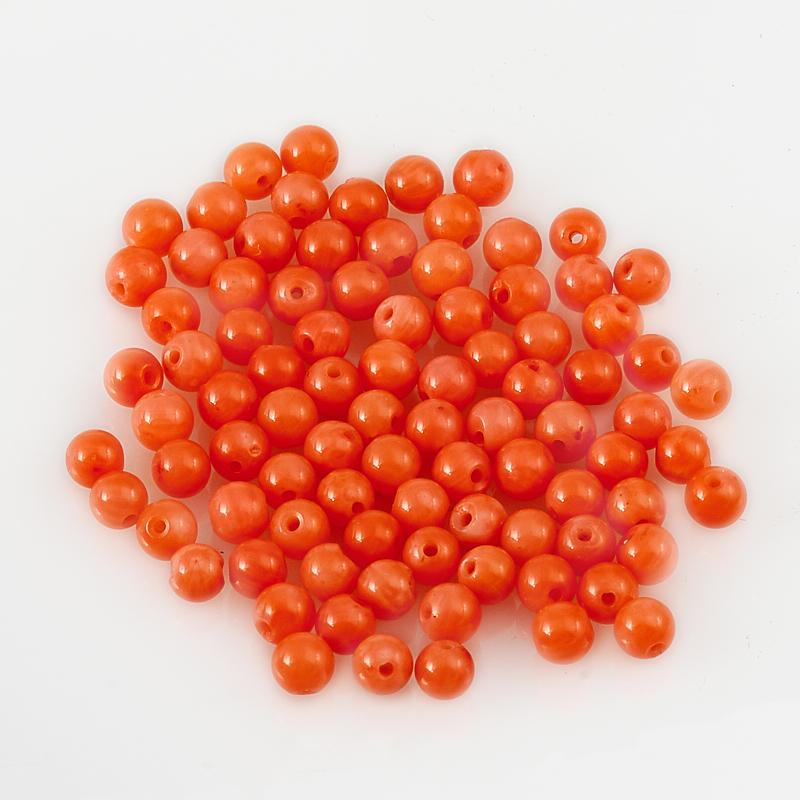 Бусина коралл розовый  шарик 2 мм (1 шт) бусина коралл розовый шарик 6 мм 1 шт