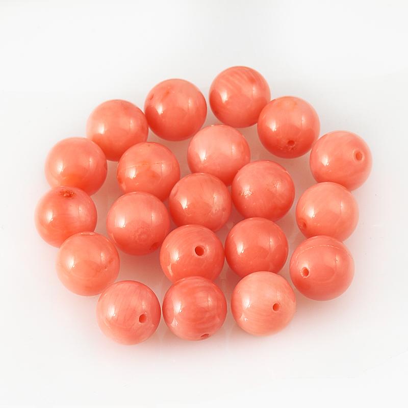 Бусина коралл розовый  шарик 7,5 мм (1 шт) бусина коралл розовый шарик 6 мм 1 шт
