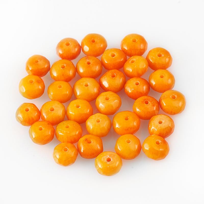 Бусина коралл оранжевый  круг 5,5-6 мм огранка (1 шт) бусина коралл красный сплюснутый шар 5 5 6 мм огранка 1 шт